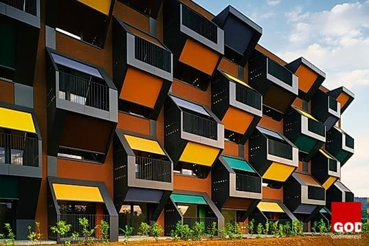 Housing Complex in Slovenia is a Series of Honeycomb Modular Apartments