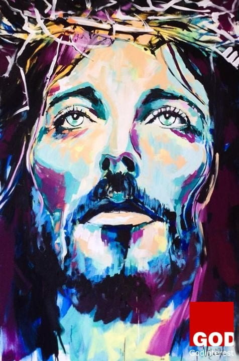 Picture of Jesus #art by Krishi Anne