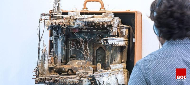 Syrian Artist Uses Suitcases to Recreate the Homes Refugees Left Behind, Godinterest Christian Magazine