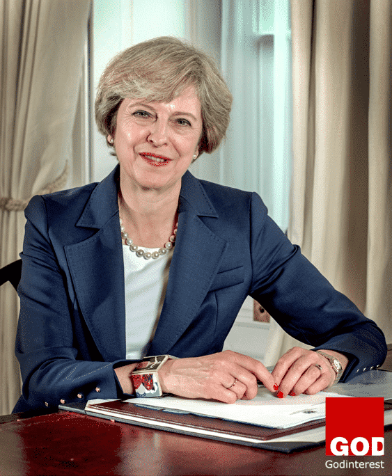 Portrait of British Prime Minister Theresa May. Author Controller of Her Majesty's Stationery Office. This file is licensed under the Open Government Licence v3.0 (OGL v.3).