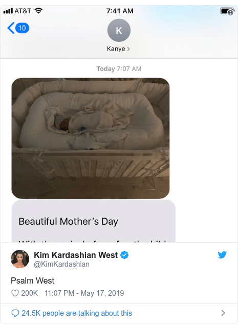 Kim Kardashian And Kanye West Go Biblical For Newest Baby's Name 'He's Such a Blessing, So It's Perfect', Godinterest Christian Magazine
