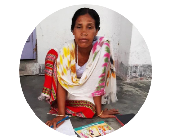 This is Mandeepa. She grew up illiterate.
