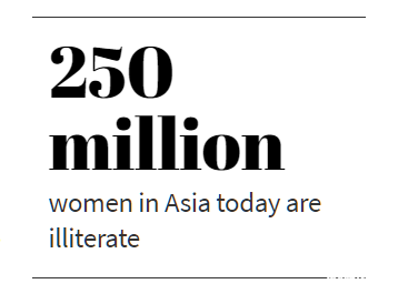 250 million women in Asia today are illiterate