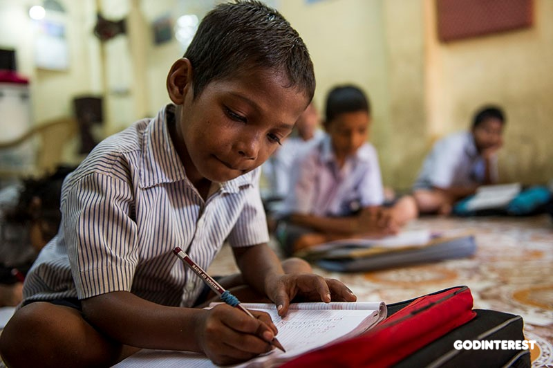 Shetal, an 8 year-old Bridge of Hope student
