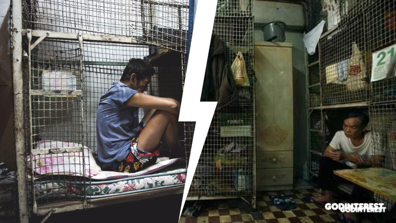 HONG KONG: 200,000 live in cages